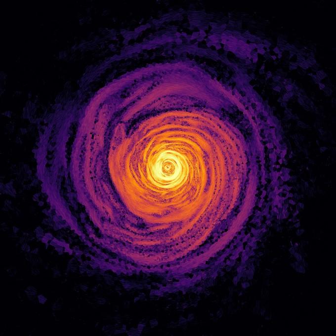 우주상에서 가장 강한 자기장을 지닌 중성자별 ′마그네타′가 두 별이 충돌해 합쳐진 별이 초신성으로 폭발하며 생겨나는 것으로 밝혀졌다. 파비안 슈나이더 독일 하이델베르크대 천문학센터 연구원과 세바스티안 올만 하이델베르크 이론 연구소(HITS) 연구원 공동연구팀은 두 별이 충돌하며 생겨난 것으로 추정되는 ′전갈자리 타우′별의 생성과정을 시뮬레이션으로 재현해 강력한 자기장을 보일 수 있음을 입증했다. 그림에서의 밝기는 자기장의 세기를 뜻한다. 하이델베르크대 제공