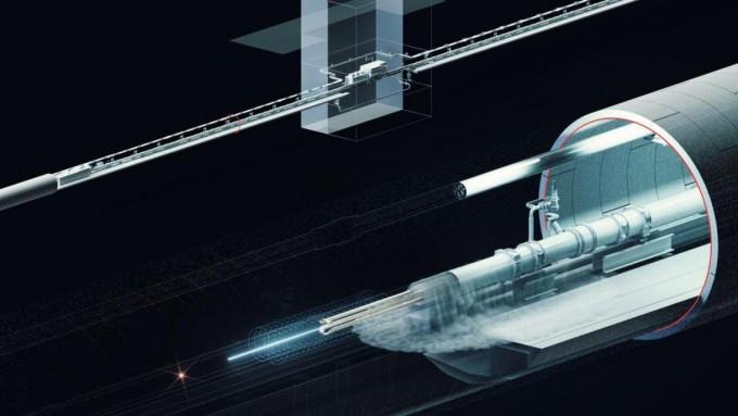 독일 함부르크에 건설 중인 암흑물질 생성, 관측 장비 ′알프스2′의 도식도다. 과거 원형가속기가 있던 독일 전자싱크로트론센터(DESY)의 초전도 자석 장비를 재활용해 지하 공동에 설치하고, 이를 이용해 레이저를 가속하는 과정에서 일부 형성될 것으로 추정되는 가설 속 암흑물질 후보입자 ′액시온′을 관측한다. DESY 제공