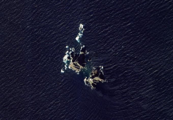 지난 10월 8일 아리랑위성 3A호가 촬영한 독도 위성사진이다. 항우연 제공