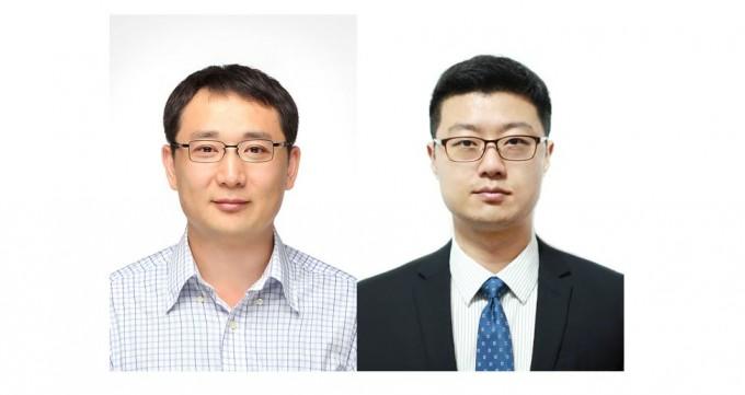 곽민석(왼쪽) 부경대 화학과 교수와 진준오(오른쪽) 영남대 의생명공학과 교수 연구팀은 면역세포의 항암능력을 높이는 핵산 복합물질을 개발했다. 한국연구재단 제공