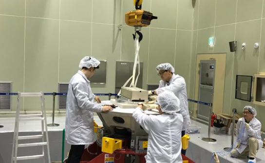 자기장과 태양 입자를 관측하는 초소형 군집위성 SNIPE 연구 현장. 출처 SNIPE트위터