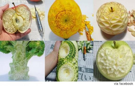 과일과 채소의 조각가 '솜씨 깜짝'