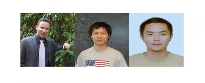 아시아태평양이론물리센터가 올해 아시아태평양 젊은 물리학자상 수상자로 이고르 아로노비치(왼쪽) 호주 시드니공과대 교수와 류슝준(가운데) 중국 북경대 교수, 허송(오른쪽) 중국과학원(CAS) 교수를 선정했다. 과학기술정보통신부 제공