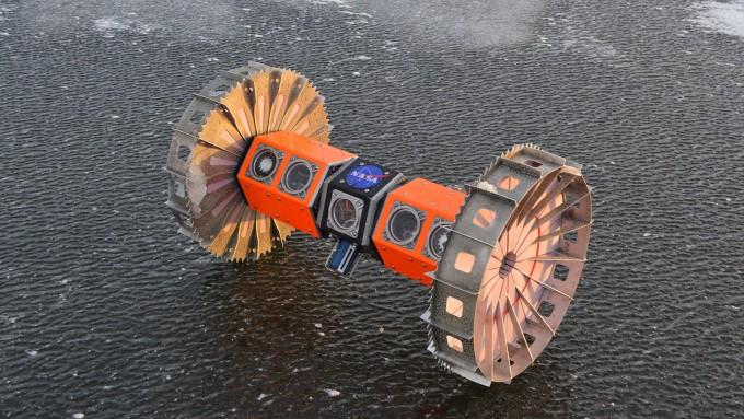 수중 로버 '브루이(BRUIE)'에 대한 테스트에 돌입했다. 브루이는 테스트를 마치고 2025년 우주선에 실려 유로파로 날아갈 예정이다. NASA 제공