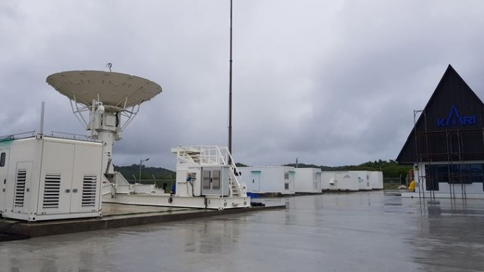 남태평양 팔라우에 마련한 한국항공우주연구원 해외 추적소의 모습이다. 항우연 제공