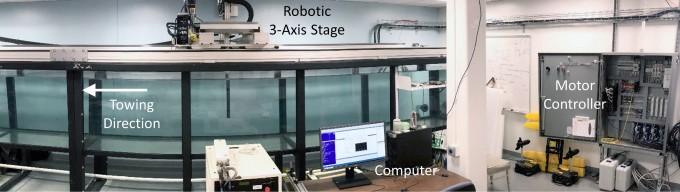 MIT 연구진이 유체역학 관련 실험을 정교하고 빠르게 하기 위해 고안한 로봇 시스템 ITT. 사이언스로보틱스 제공.