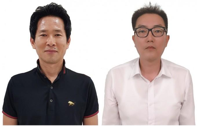 백경목 SK하이닉스 수석연구원(왼쪽)과 이재만 다원산업 대표. 과학기술정보통신부 제공.