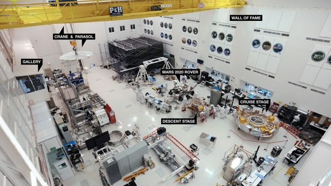 NASA 제트추진연구소가 개발중인 마스 2020로버 개발동의 모습이다. NASA 제공
