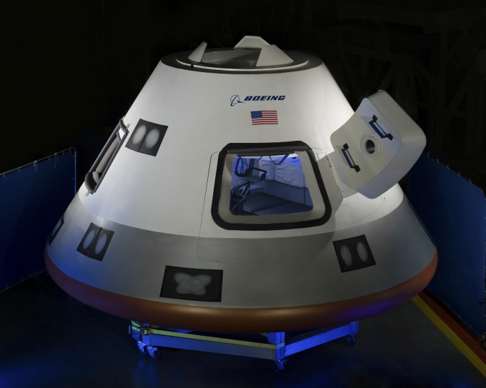 미국 항공우주기업 보잉의 유인우주선 'CST-100 스타라이너'의 모습이다. 위키피디아 제공