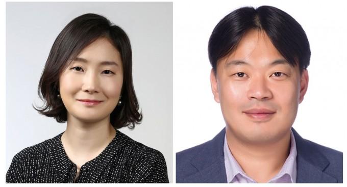 장원영(왼쪽) 한국과학기술연구원(KIST)은 에너지저장연구단 책임연구원과 김승민(오른쪽) 전북분원 탄소융합소재연구센터 책임연구원 연구팀이 리튬이온배터리의 성능 저하 원인이 전극 물질의 내부 변형이라는 연구결과를 내놨다. KIST 제공