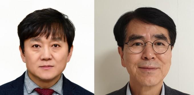 하헌필 KIST 책임연구원(왼쪽)과 김정민 제일약품 전무이사. 과기정통부 제공.