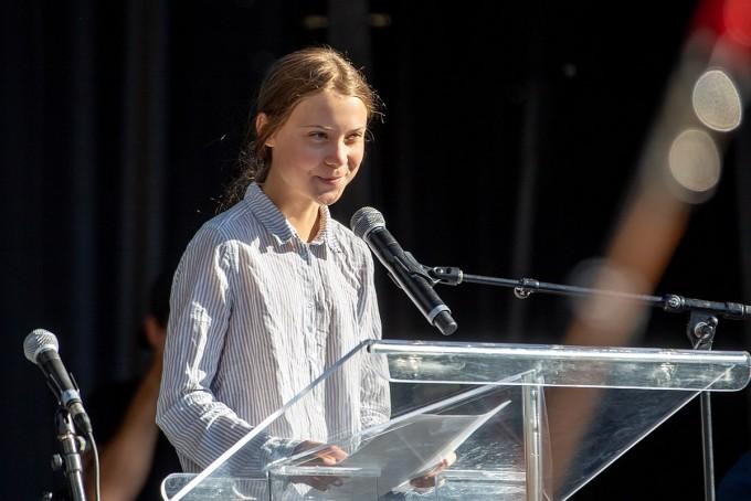 스웨덴 청소년 환경운동가 그레타 툰베리는 기후변화 대처에 목소리를 높이는 대표적 운동가다.  위키미디어 제공