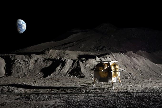 2021년 미국항공우주국(NASA)의 상업달탑재체서비스(CLPS) 임무를 통해 달에 갈 미국 아스트로보틱스의 착륙선 ′페레그린′의 모습이다. 스페이스빗은 이 착륙선에 소형 거미형 탐사로봇 ′아사구모′를 실어보낼 계획이다. 아스트로보틱스 제공