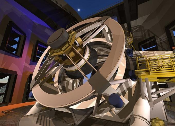 암흑물질 및 에너지 관측과 우주 은하지도 완성을 목표로 건설 중인 ′대형시놉틱관측망원경(LSST)′는 2020년 첫 시험관측을 시작할 예정이다. LSST 제공