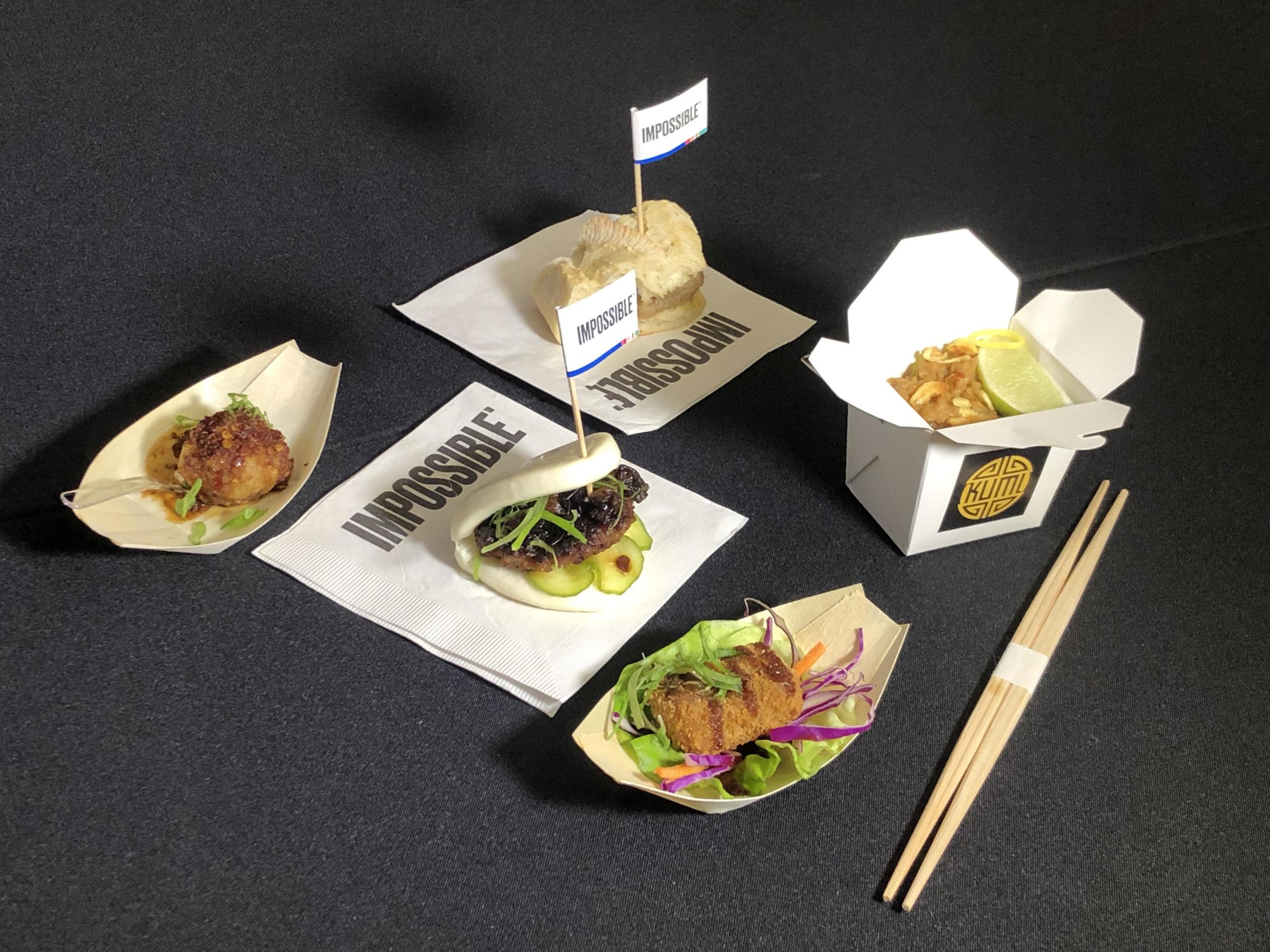 실리콘밸리의 대체육 스타트업인 임파서블푸즈가 6일 미국 라스베이거스 맨덜레이호텔에서 열린 CES2020 미디어데이 행사에서 돼지고기 제품을 처음 공개했다.