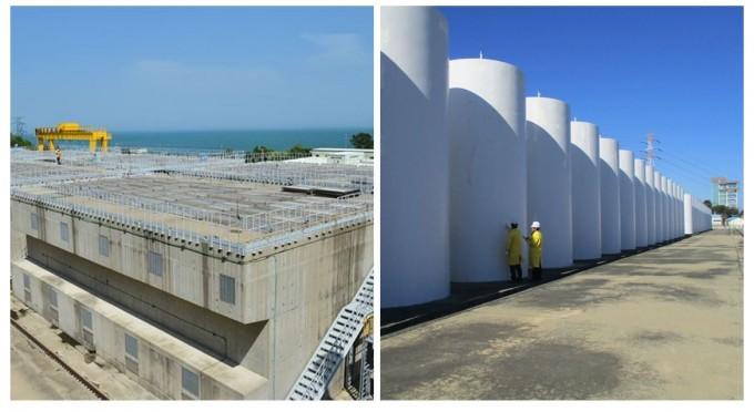 포화 상태에 다다른 사용후핵연료 임시저장시설인 '맥스터(왼쪽)'와 '캐니스터(오른쪽)'의 모습이다. 한국수력원자력 월성본부 제공