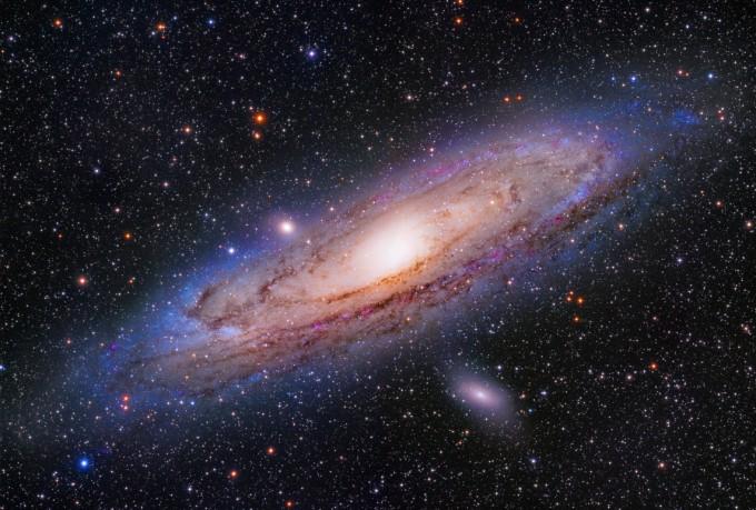 제27회 천체사진공모전 대상 수상작인 공양식 작가의 ′안드로메다 은하 24시′. 한국천문연구원 제공
