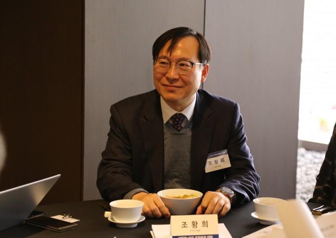 조황희 과힉기술정책연구원(STEPI) 원장이 이달 29일 서울 중구 더플라자호텔에서 열린 기자간담회에서 발언하고 있다. STEPI 제공