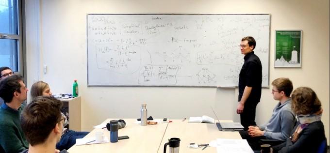 독일 빌레펠트대학교 수학과 사람들과 함께하는 세미나 모습. 이승재 제공
