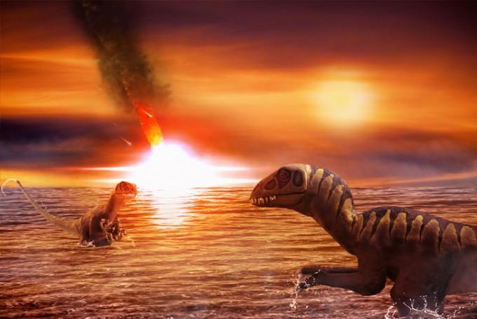 6600만 년 전 공룡을 사라지게 한 대멸종의 원인이 소행성 뿐이라는 연구결과가 나왔다. 게티이미지뱅크