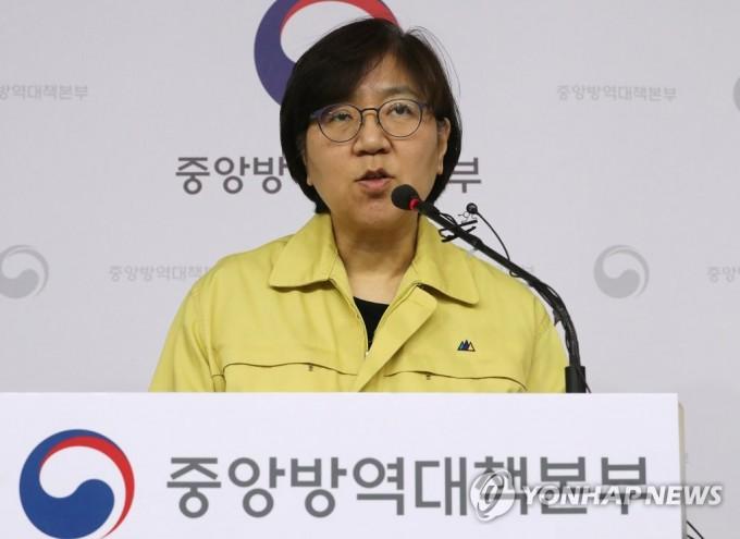 정은경 중앙방역대책본부장이 정례브리핑을 하고 있다. 연합뉴스 제공