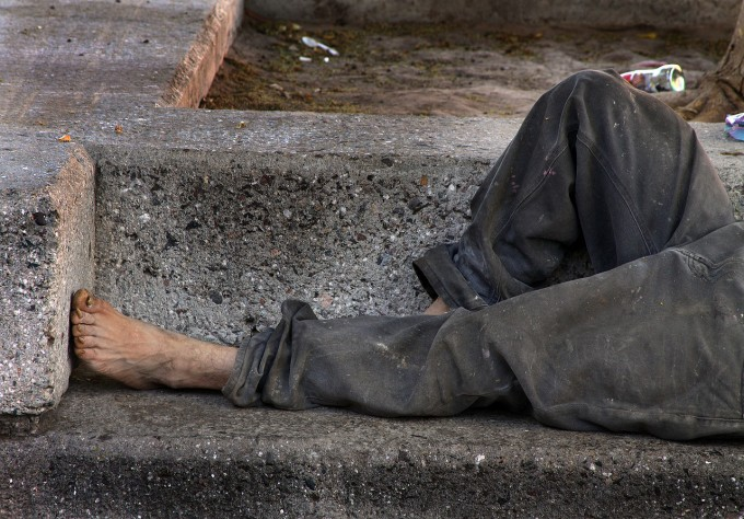 미국뿐 아니라 세계 대도시에서는 노숙자들을 어렵지 않게 볼 수 있다. 위키미디어 제공.