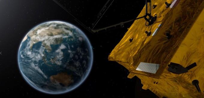 한반도를 24시간 관측하는 천리안 2B호의 상상도. 한국항공우주연구원 제공