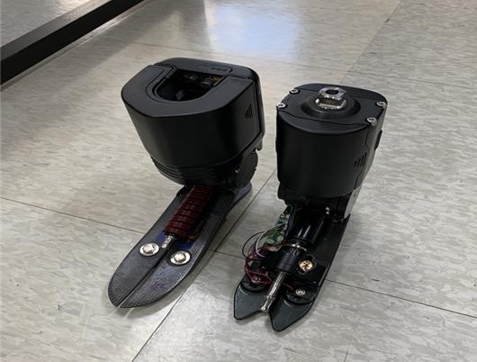 한국기계연구원이 개발한 로봇 의족의 모습이다. 한국기계연구원 제공