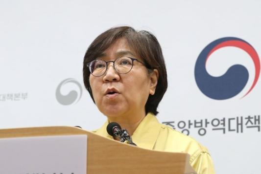 정은경 중앙방역대책본부장이 브리핑을 진행하고 있다. 연합뉴스 제공