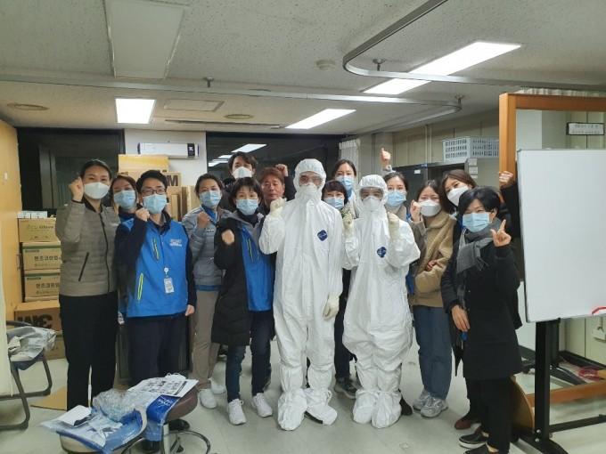 서울형 생활치료센터 의료지원단의 모습. 서울보라매병원 제공