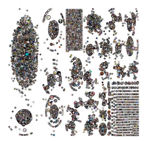 박 교수팀이 ′신천지′를 키워드로 트윗의 네트워크를 분석한 결과다. ′코로나바이러스′를 언급한 경우와 확연히 다른 네트워크를 보인다. 이렇게 네트워크와 네트워크를 이루는 구성원 간의 거리 등 특성이 확연히 다름에도, 의료 뉴스를 가장 선호하는 성향은 비슷한 것으로 분석됐다. 박 교수는 감염병 유행과 같은 위험 및 보건 커뮤니케이션에서 의료 뉴스 생산과 유통이 중요하며 따라서 이 분야의 팩트체크가 위험 커뮤니케이션을 위해 대단히 중요하다고 강조했다. 박한우 교수 제공