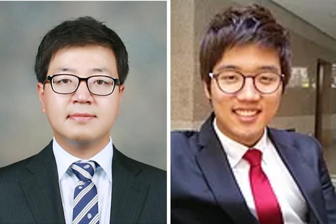 손준우 포스텍 신소재공학과 교수(왼쪽)와 박재성 박사 연구팀은 고체기반 전기화학 스위칭 소자의 동작 속도를 조절하는 기술을 개발했다고 9일 밝혔다. 포스텍 제공
