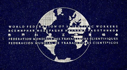 세계 과학노동자연맹 World federation of scientific workers 의 로고