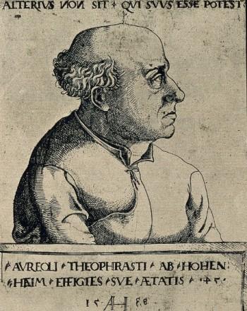 파라켈수스(1493~1541). 그의 본명은 필리푸스 아우레올루스 테오프라스투스 봄바스투스 폰 호헨하임(Philippus Aureolus Theophrastus Bombastus von Hohenheim)으로 꽤 길다. 나는 수업시간에 항상 이렇게 긴 이름을 다 보여주며 학생들에게 악담하기를 즐긴다. 위키피디아 제공