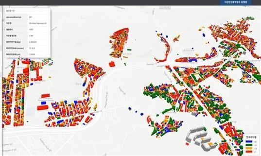 지역 내 건축물 내진 능력 지도로 한눈에 본다