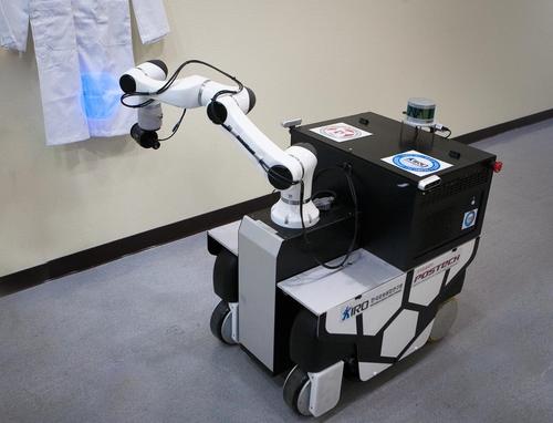 로봇융합연구원·포항공대 자율이동 방역로봇 개발