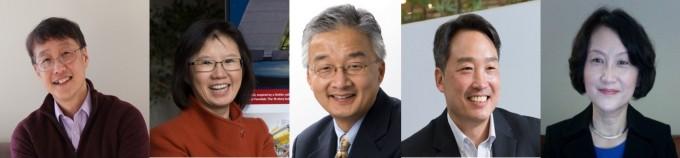 왼쪽부터 김필립 교수, 김영기 교수, 루크 리 교수, 다니엘 리 교수, 에스더 양 선임디렉터. 재미과기협 제공.