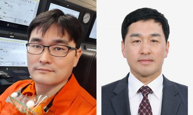 박상민 한국조선해양 책임연구원(왼쪽)과 조학래 이너트론 대표이사가 ′대한민국 엔지니어상′ 4월 수상자로 선정됐다. 과학기술정보통신부 제공