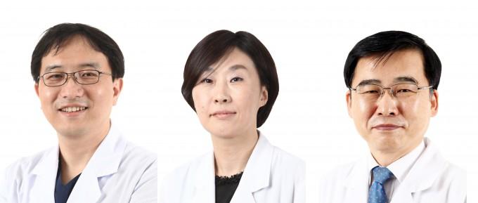 송준영∙정희진∙김우주 고려대구로병원 감염내과 교수(왼쪽부터). 고대구로병원 제공