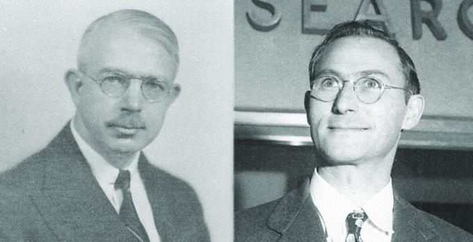 에렛 앨프리튼 (Errett C. Albritton, MD, 1890~1984)과 데이빗 그린 (David E. Green, 1910-1983) 조지워싱턴대 및 NIH 제공