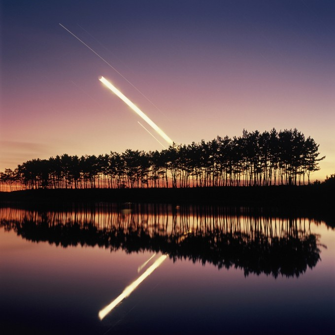 동상 수상작 ′행성과 달의 방명일주 (강지수)′. 2019년 어느 늦가을, 노을이 질 때 함께 관측 가능했던 목성, 금성, 토성, 초승달의 일주 모습이다. 천문연 제공