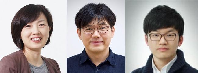 연구를 주도한 IBS RNA 연구단의 연구팀들이다. 왼쪽부터 김빛내리 단장, 장혜식 연구위원, 김동완 연구원이다. IBS 제공