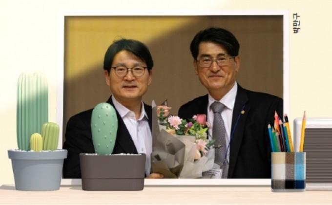 2019년 한국수학교육학획장인 이상구 성균관대 교수와 함께 찍은 사진이다. 박민구 제공