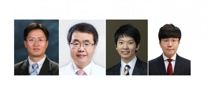 (왼쪽부터) 김하일 교수, 장학철 교수의 모습이다. 문준호 KAIST 의과학대학원 연구원과 김형석 충남대 의대 연구원이 공동 1저자로 연구에 참여했다. KAIST 제공