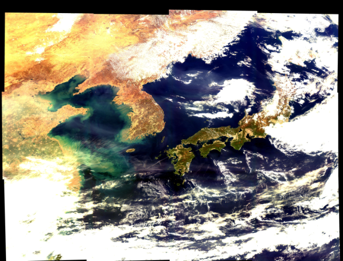해양 및 환경관측 정지궤도위성 천리안2B호가 3월 23일 촬영한 한반도 및 주변 해역의 모습이다. 과학기술정보통신부 제공