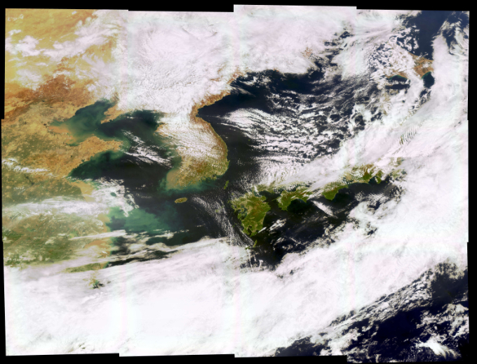 천리안2B호가 4월 22일 촬영한 한반도 및 주변 해역의 모습이다. 과학기술정보통신부 제공