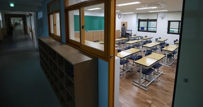 코로나19 여파로 텅 비어 있는 교실의 모습이다. 연합뉴스 제공