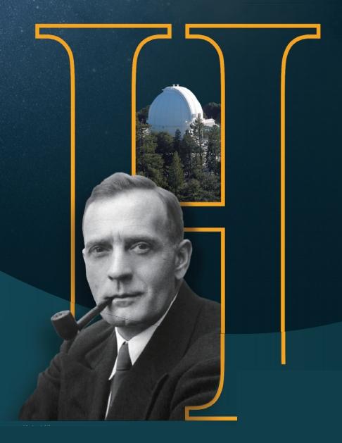 미국 천문학자 에드윈 허블이 일하던 미국 윌슨산천문대(위). 허블은 이곳의 구경 2.5m 후커망원경으로 천체를 관측했다. 위키미디어 제공
