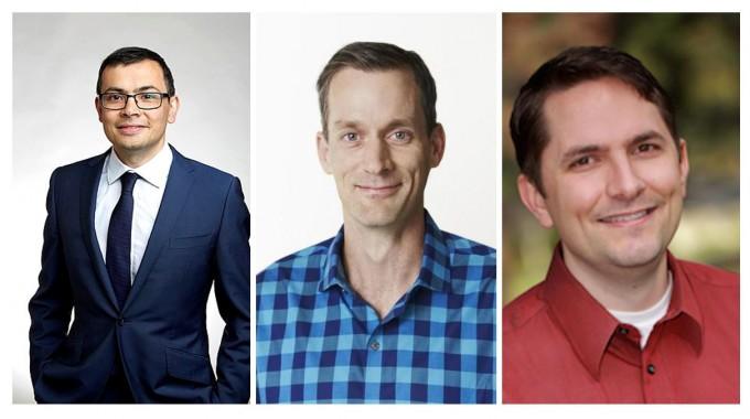 왼쪽부터 데미스 하사비스, 제프 딘, 아담 코츠. 위키피디아, 미국 스탠퍼드대 제공