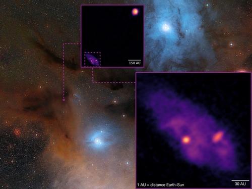별 형성 영역 깊숙이서 쌍성계 만드는 원시별 생생하게 포착